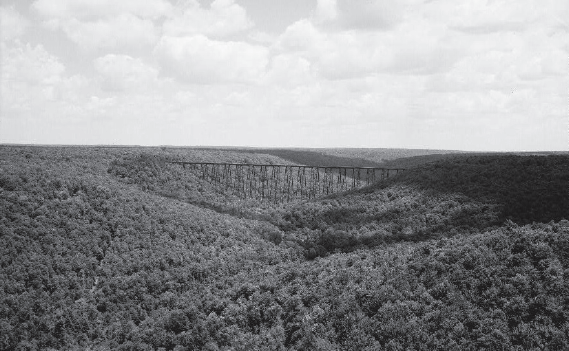 Kinzua Viaduct - AERIAL RECONNAISS ANCE II, ERIE RAILWAY SURVEY. Jack Boucher, photographer, 1971. HAER - Library of Congress Prints and Photographs Division Washington, D.C